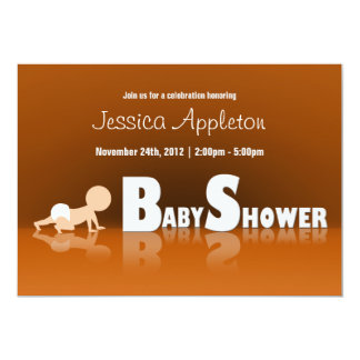 Crawling Baby Reflection Baby Shower Invitations