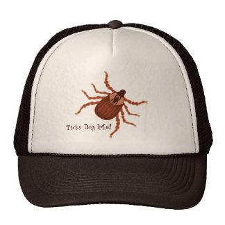 Crawly Realistic Tick Illustration Mesh Hats