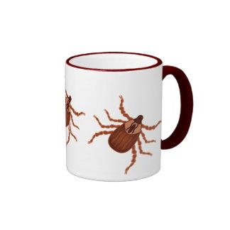 Crawly Realistic Tick Illustration Ringer Mug
