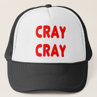 Cray Cray Funny internet Memes Red Trucker Hat