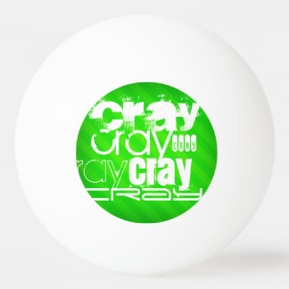 Cray; Neon Green Stripes Ping Pong Ball