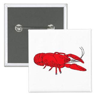 crayfish pinback button