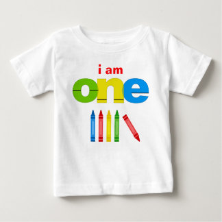 Crayon 1st Birthday T-shirt Toddler Baby Kid