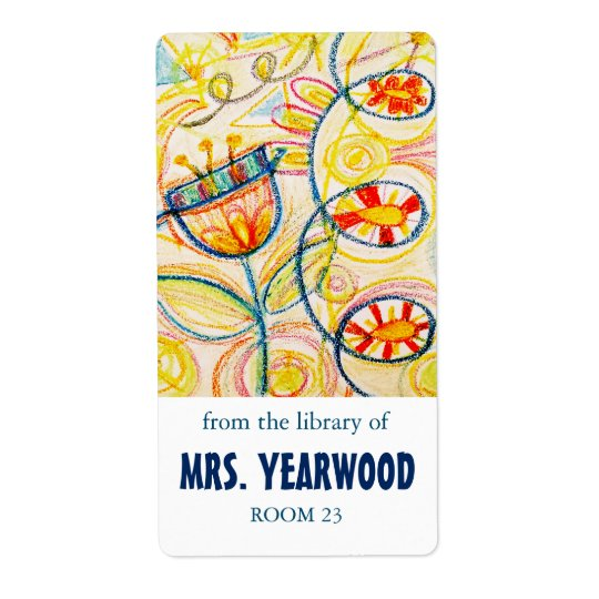 Crayon Art Bookplates Shipping Label