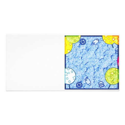 Crayon Ballons Sweets Picture Card