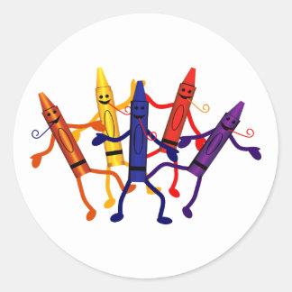 Crayon Birthday Party Sticker
