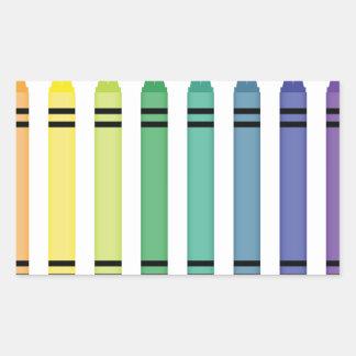Crayon Colors Rectangular Sticker