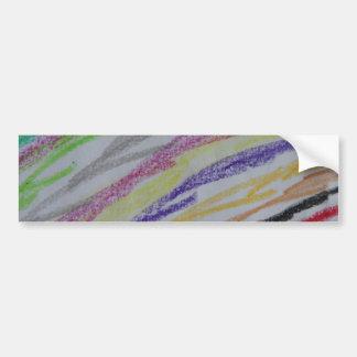 Crayon Drawn Lines Bumper Sticker