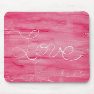 Crayon Love Love is Messy Mouse Pad
