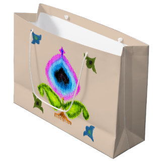 Crayon Paisley Ikat Large Gift Bag