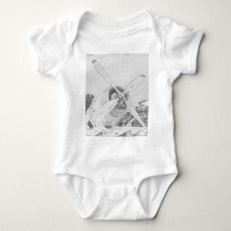 Crayon-plane Baby Bodysuit