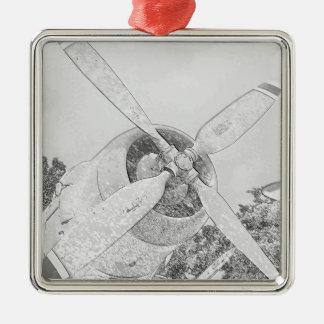 Crayon-plane Christmas Ornament
