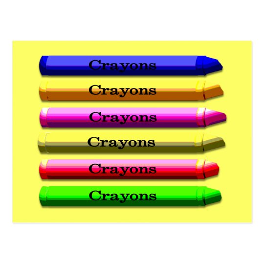 Crayon post card
