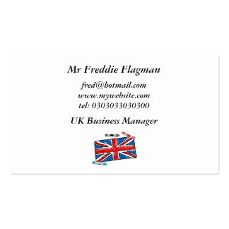 Crayon Union Jack, Business Card Template