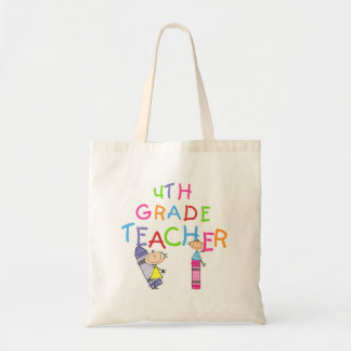 Crayons 4th Grade Teacher T-shirts and Gifts Tote Bag