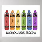 Crayons Bedroom Poster
