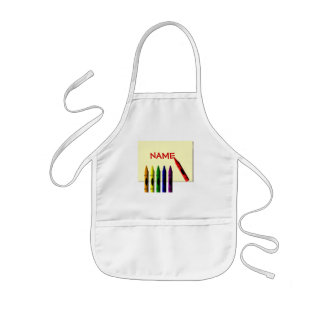 Crayons Color my Name Apron