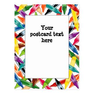 Crayons Frame Postcard