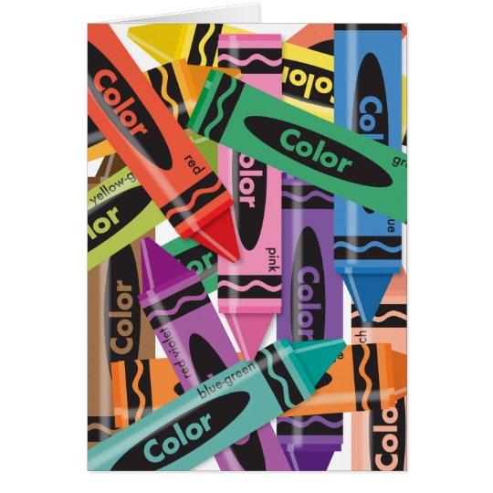 Crayons - Greeting Card