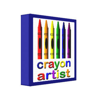 Crayons Kids Crayon Artist Colorful Print Gallery Wrapped Canvas