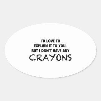 Crayons Oval Sticker