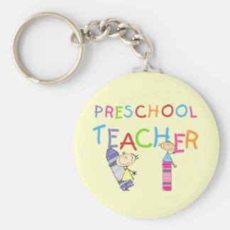 Crayons Preschool Teacher Tshirts and Gifts Key Ring