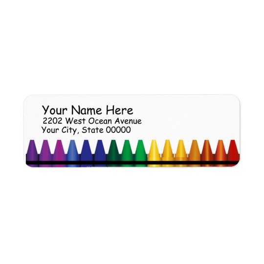 Crayons Return Address Label