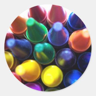 Crayons! Round Sticker