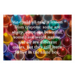 Crayons Words to Live By Posters