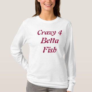 'Crazy 4 Betta Fish' Women's Hoodie-Adult Small T-Shirt