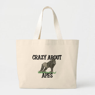 Crazy About Apes Large Tote Bag