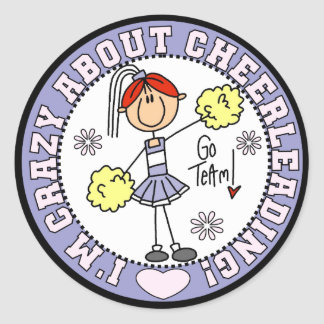 Crazy About Cheerleading T-shirts and Gifts Classic Round Sticker