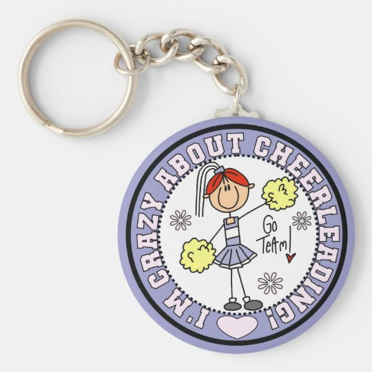 Crazy About Cheerleading T-shirts and Gifts Key Ring