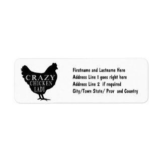 Crazy about Chickens Cute Hen Graphic Return Address Label