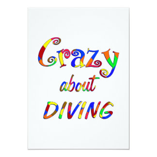 Crazy About Diving 13 Cm X 18 Cm Invitation Card