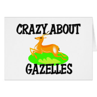 Crazy About Gazelles Card