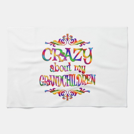 Crazy About Grandchildren Tea Towel
