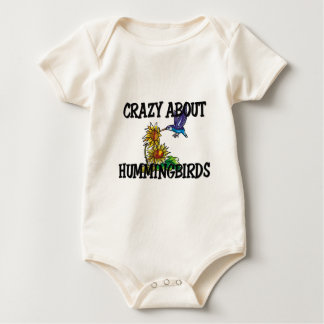 Crazy About Hummingbirds Baby Bodysuit