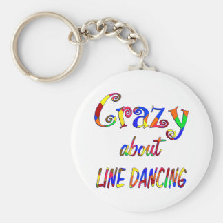 Crazy About Line Dancing Key Ring