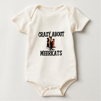 Crazy About Meerkats Baby Bodysuit