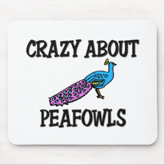 Crazy About Peafowls Mouse Pad