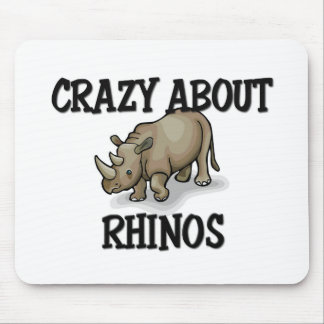 Crazy About Rhinos Mouse Mat