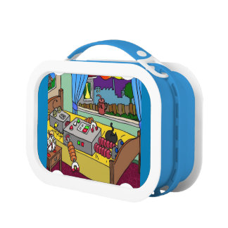 Crazy about robots yubo lunch box by DAL