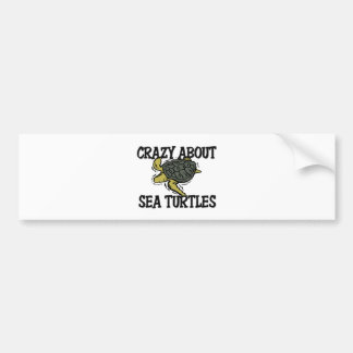 Crazy About Sea Turtles Bumper Sticker