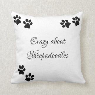 Crazy about Sheepadoodles Cushion