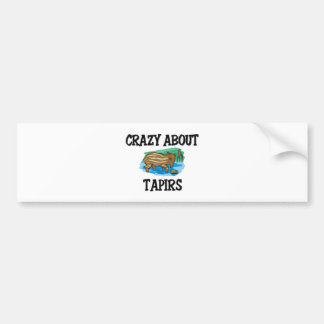 Crazy About Tapirs Bumper Sticker