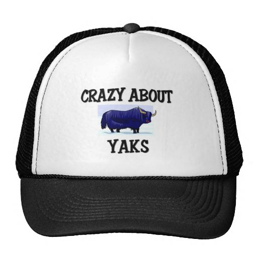 Crazy About Yaks Trucker Hats