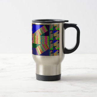 CRAZY Abstract Art on GIFTS enjoy a different VIEW Stainless Steel Travel Mug