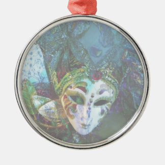Crazy Abstract Face Of Festival Celebrations Mask Christmas Ornament