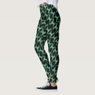 Crazy Abstract Great Dane Pattern Leggings